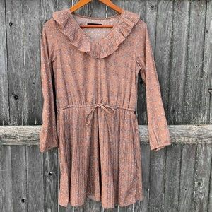 Mystic pleated dress with ruffle top size large